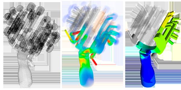 Système d'aspiration-soufflage dans un couteau rotatif