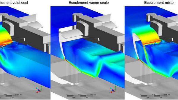 Débitance de vanne segment appliquée au barrage Vaugris