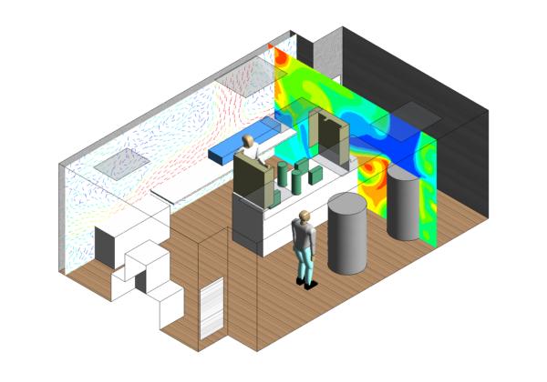 Optimisation du positionnement des diffuseurs pour une salle blanche